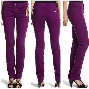 White House Black Market Magenta Ankle Jeans SZ 8